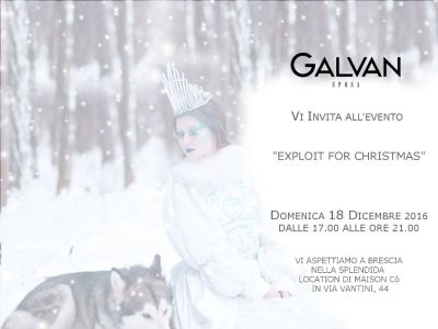 Galvan Sposa in collaborazione con Maison Co -Evento Exploit for Christmas-